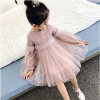 2017 Girl Cute Lace Dress Children Baby Girl Dress Clothing Sequins Party Gown Ball Formal Princess