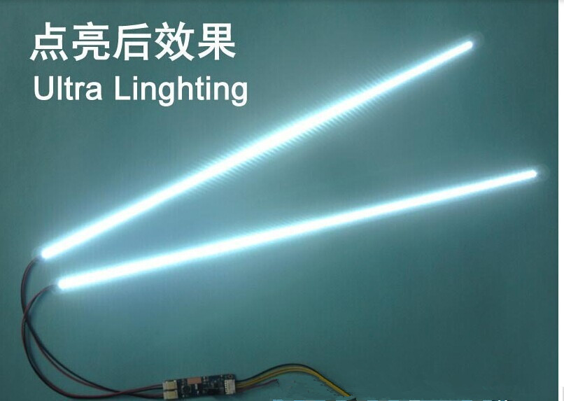 Hot Sale 4PCS/LOT 540mm Adjustable Brightness CCFL Led Backlight Strip Kit,Update 24inch Lcd Monitor To Led Bakclight