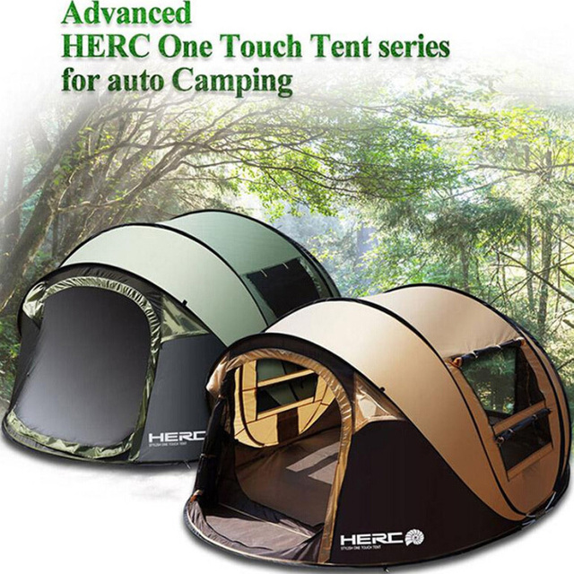 2017 Hot sale pop up fully automatic 5-6 person 3 season FPR rod anti rain fishing beach hiking outdoor camping tent on sale