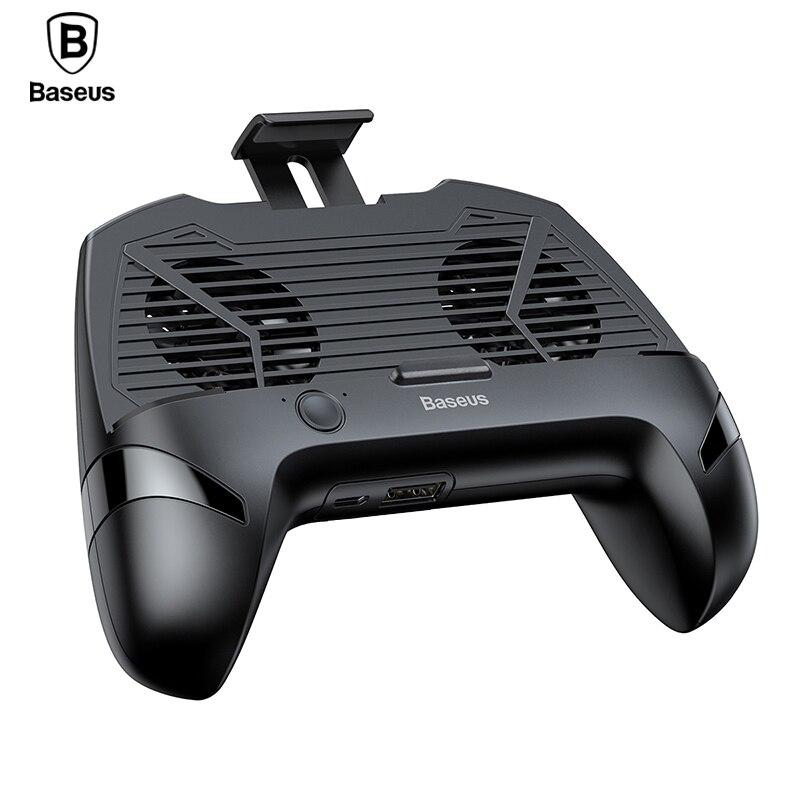 Baseus teléfono titular para iPhone X Samsung Gamepad juego titular de la manija de refrigeración controlador Apoyo carga del soporte del teléfono móvil