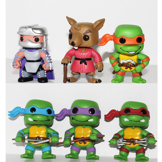 29fc733ffaf 6Pcs set Funko pop Turtles cartoon Action Figures Toy Set Classic  Collection model toy gift for the children
