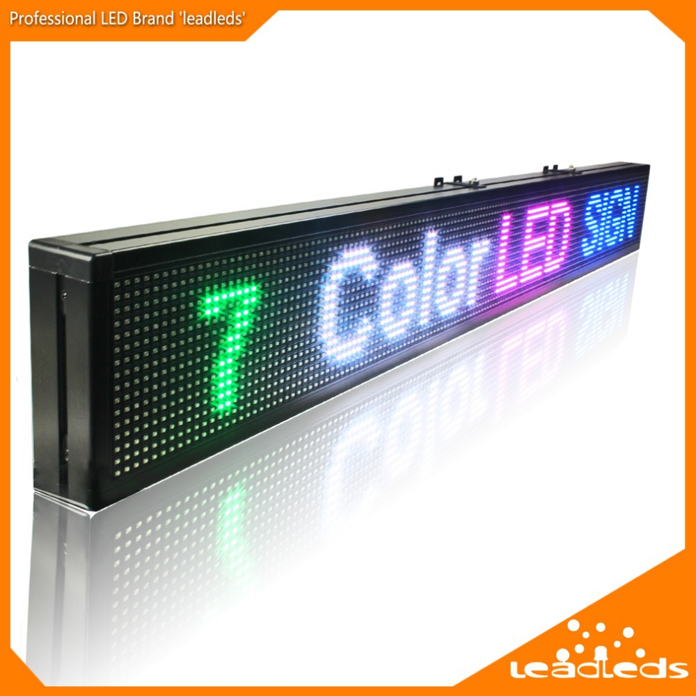 1250MM RGB SMD Full Color WIFI Programmable Scrolling Message LED Display Board For Stores