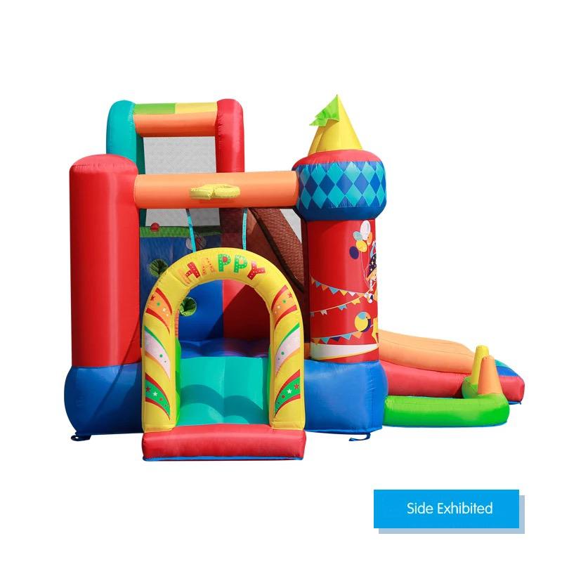 HTB150yePFXXXXakXFXXq6xXFXXXB - Mr. Fun Bouncy Castle Inflatable Bounce House Double Slide For Kids with Blower