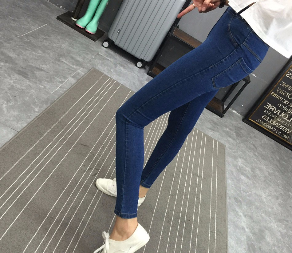 BIVIGAOS Basic Skinny Womens Jeans Ankle Pencil Pants Slim Elastic Denim Pants Jean Leggings Female Cotton Jeggings Jeans Women 28