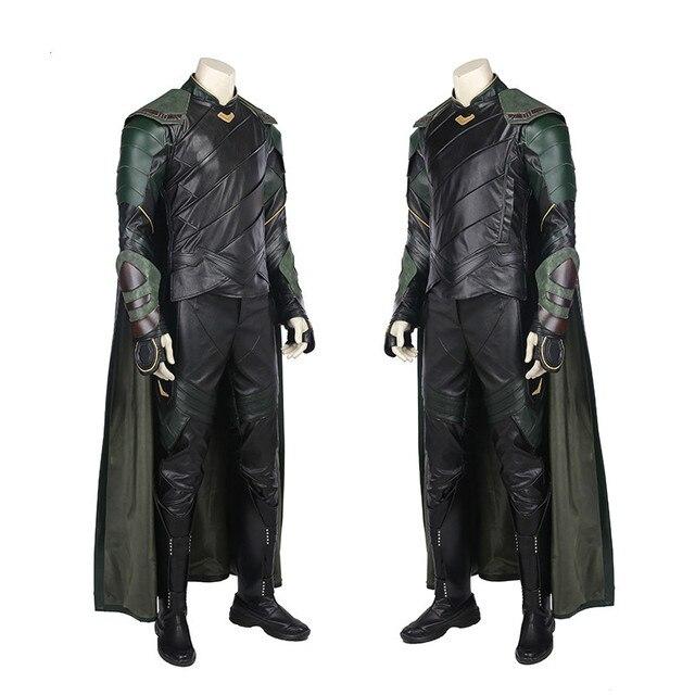 Cos Thor Ragnarok  Loki Laufeyson Cosplay Costume Marvel Chris Hemsworth Costume Movie 2017 Thor III Cosplay Thor3 Costume 2