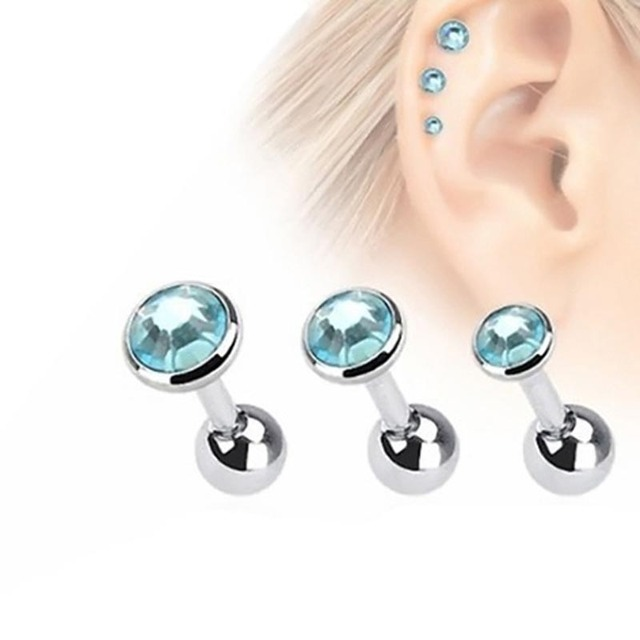 3pcs Lot Fashion Ear Piercing Lip Body Helix Tragus Lobe Barbell Bar Earrings Ear Studs Piercing.jpg 640x640 - 3pcs/Lot Fashion Ear Piercing Lip Body Helix Tragus Lobe Barbell Bar Earrings Ear Studs Piercing 3mm&4mm&5mm LXH