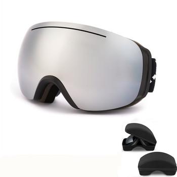 Gogle narciarskie ochrona przed promieniowaniem UV Anti-fog narciarstwo okulary mężczyźni kobiety podwójne soczewki śnieg okulary dla dorosłych gogle narciarskie i do snowboardu tanie i dobre opinie SG001 Black UV400 Protection Mirror Coating Skiing MULTI 10cm Poliwęglan