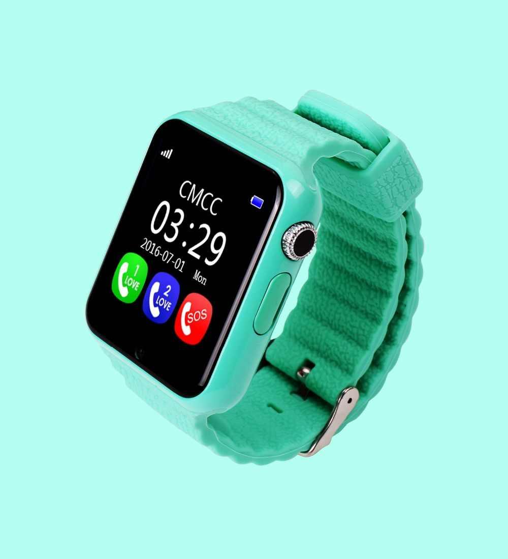 Smartch gps Смарт часы детские часы V7k с камерой/facebook SOS расположение вызова DevicerTracker для ребенка безопасный анти-потеря монитор PK Q