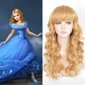 Cinderella Anime Wig Blonde Long Wavy Kinky Synthetic Wig Queen Hair Products Sexy Formula Hair Cheap Fashion Natural Party Wigs