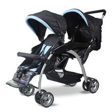 Popular Infant Stroller Double Seats Twins Pushchair Shockproof Portable Twins Stroller Baby Carriage Travel Pram