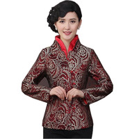 Novelty Mutilcolor Chinese Style Women Spring Autumn Jacket Tradition Coat Tang Suit Tops Size S M
