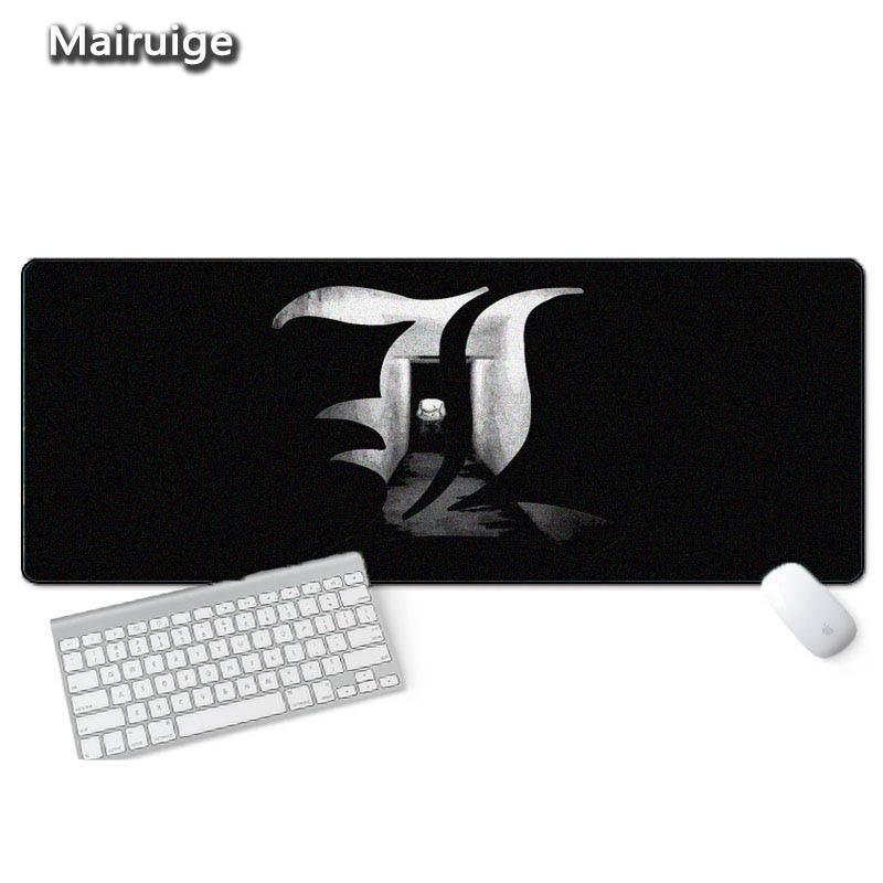 Mairuige Anime Luxury Printing Death Note Pc Mousepad Durable Locking Edge for Laptop Anime Mouse Pad Dota2 LOL CSGO Gaming Mat