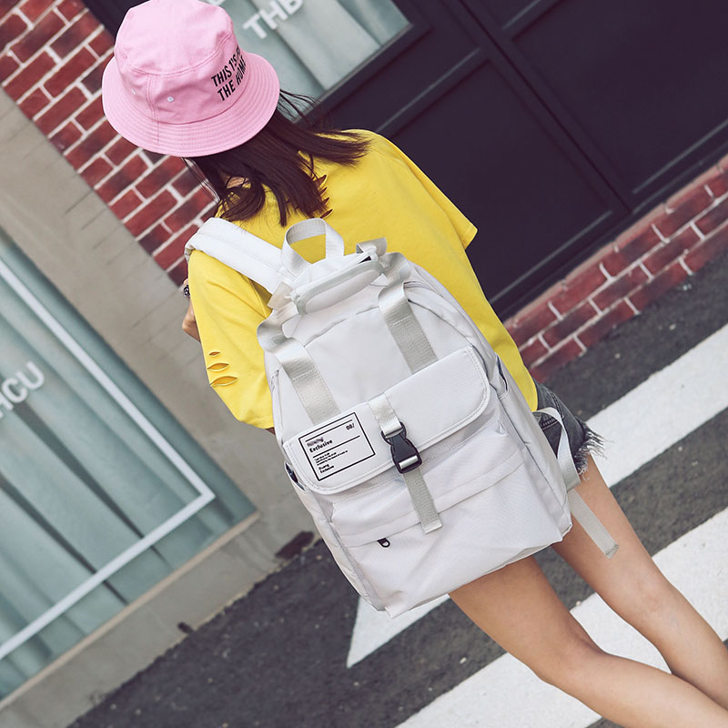 Hong Kong Style School Bag Korean Harajuku Ulzzang Cute Girl Student Backpack Preppy Style High School