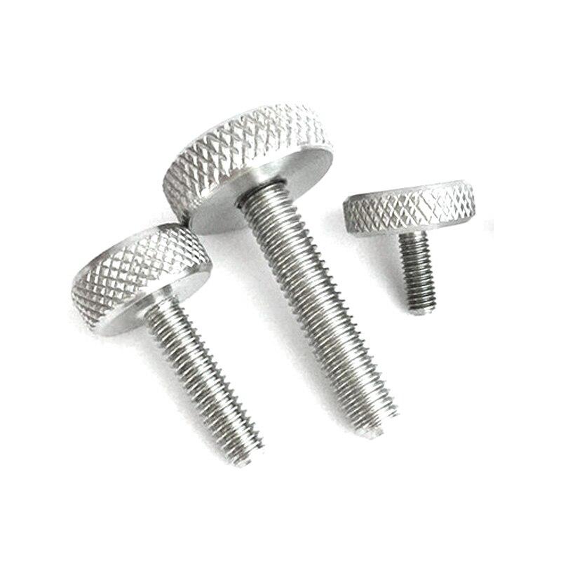 M5 M6 Brass Thumb Screws Flat knurled Screw Hand Twist Knob Bolts 8mm-25mm