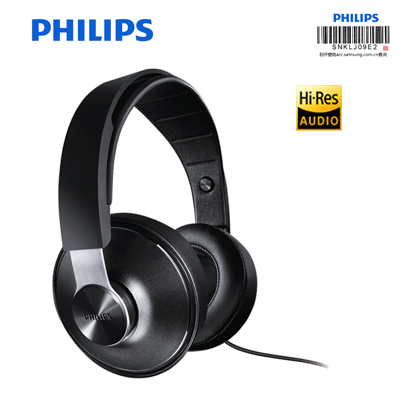 Professional Philips Hi Res Audio SHP8000 headphone with 40mm Driver HIFI sound Support Microphone Wired Control