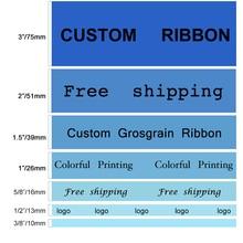 10 yards/roll custom ribbon printed Grosgrain ribbon