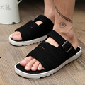 2015 Summer Casual Flat Sandals for men Leisure Soft Flip Flops 3colors men Beach Slipper Shoes sandals Size39-44 Free shipping