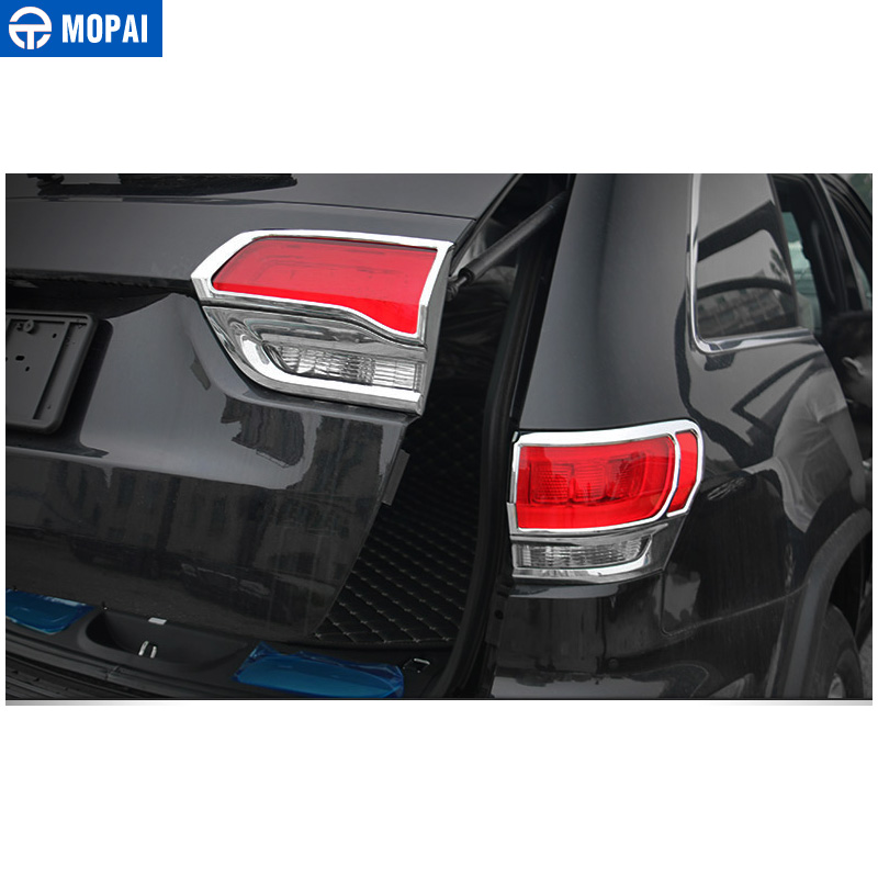 Image 2 - MOPAI Lamp Hoods for Jeep Grand Cherokee 2011 Up Car Rear Tail Light Lamp Decoration Cover for Jeep Grand Cherokee Accessories-in Lamp Hoods from Automobiles & Motorcycles