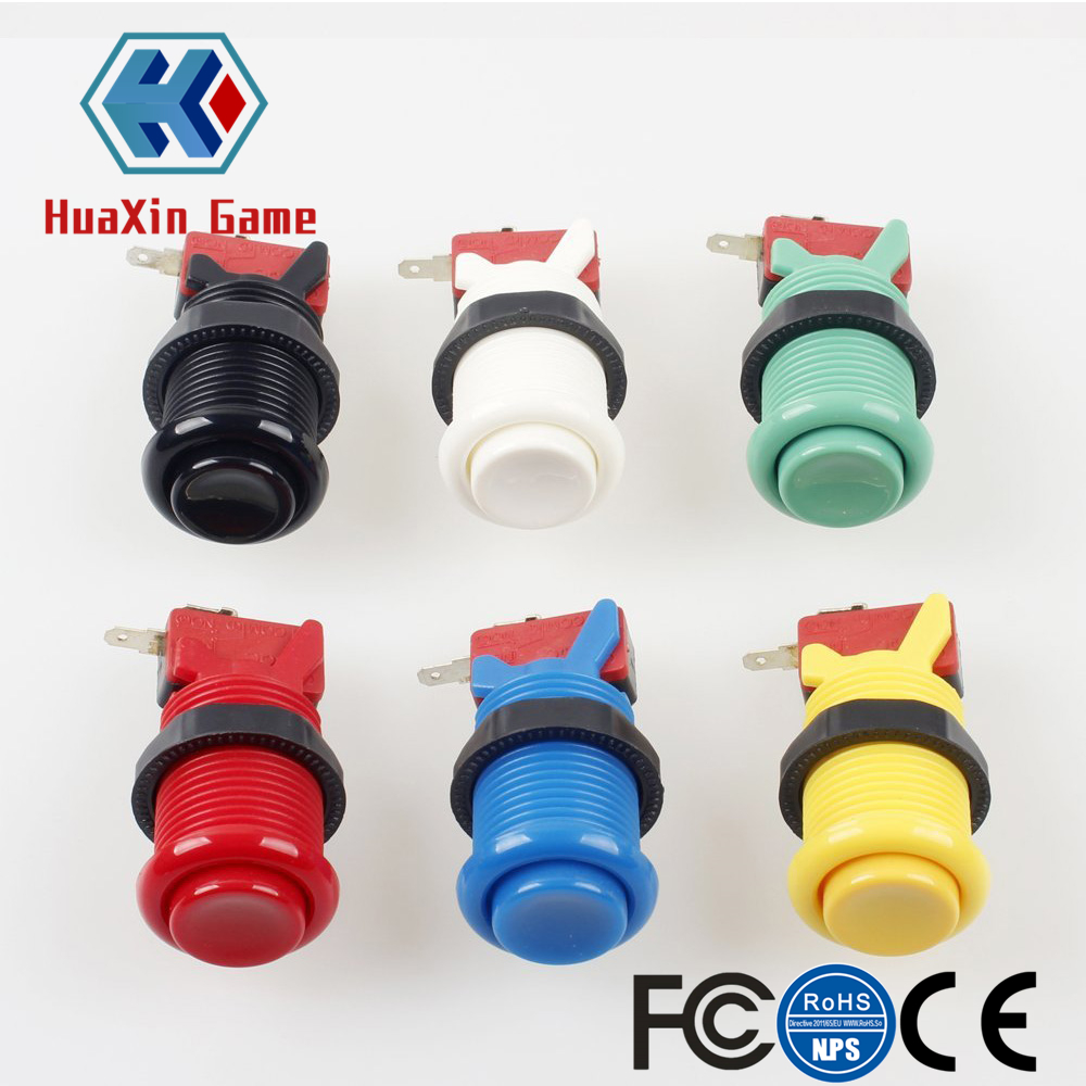 6x Happ Type Standard Push Buttons With Micro Switch