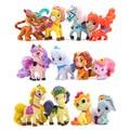 12 pçs/set Figura Unicorn Cavalo Dos Desenhos Animados de Animais de Estimação Animais de Estimação Toy Figuras de Ação de Natal Pequeno Presente