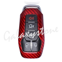 Carbon Fiber Auto Car Remote Key Case Cover Protective Shell Fits for Ford Mustang 2014 2015 2016 2017