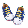 Spring Autumn Comfortable Dog Paw Print Design Soft Sole Baby Infant Casual Canvas Crib Shoes For Boys 0-15 Months