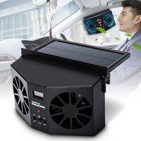 Solar Power Auto Window Fan Solar Car Ventilation Fan Double Hood Auto exhaust solar car desuperheater Cool Solar Exhaust Fan