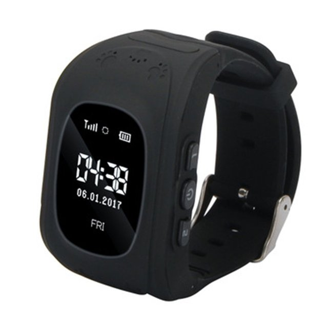 Q50 Children Smart Watch GPRS Tracker SOS Anti Lost Monitoring Positioning Phone Baby Kids Safe Watch Compatible IOS & Android