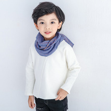 Korean version of the lovely rainbow bean wool children's scarf men and women baby scarves thicker models in winter optionalS106