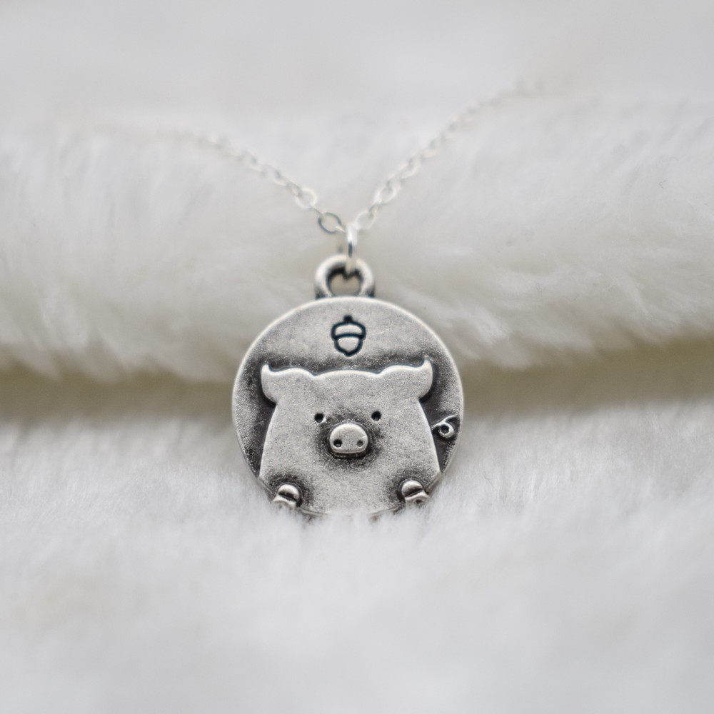 Best Christmas Danties: Tiny Hot Sale Delicate Dainty Pig Necklace Birthday