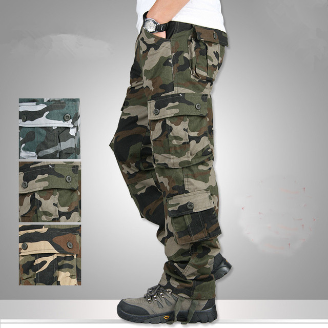 1388bacd63a7f New Mens Joggers Army Combat Cargo Pants Trousers Men Loose Camo Pants  Cotton Overalls Casual Camouflage Cargo Pants Plus size