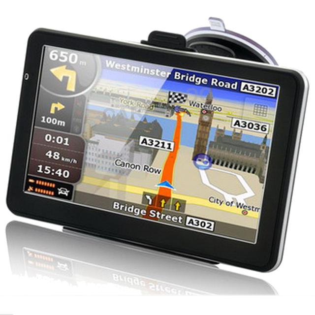 7 Polegada Automóvel Navegadores Para O Turista FM DDR 128 MB 800*480 rússia EUA Europa Mapa Do Mundo Caminhão Veículo Navegação GPS Sat Nav