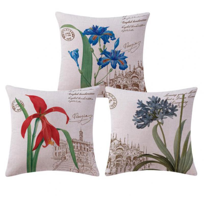 Hersteller Verkauf Modernen Minimalistischen American Style Pastoral Blumen Kissen Wohnzimmer Sofa Stuhl Anlage KissenChina