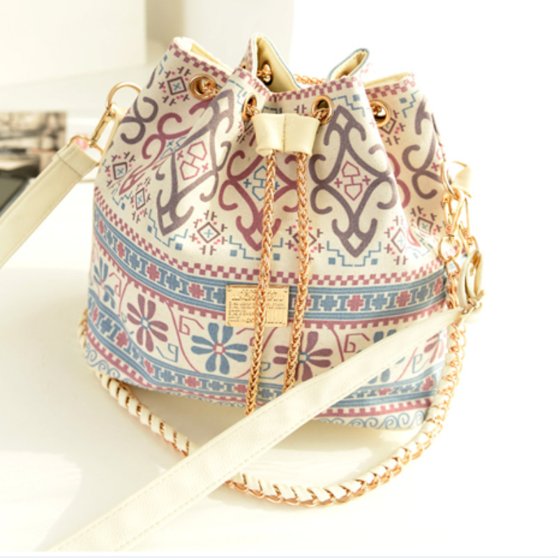 0808a819b7 New Hot Canvas Bucket Bag Handbag Female Casual Canvas Shoulder Bag Cross  body Bags Women Messenger Bag Day Clutches-in Totes from Luggage   Bags on  ...