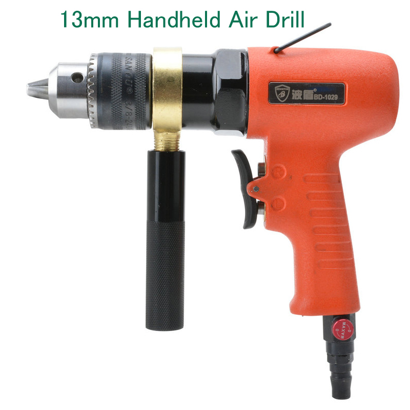 цена на 13mm Handheld Air Drill Reversible Air Drill  Pneumatic Drill Gun Pistol-type Pneumatic Drill