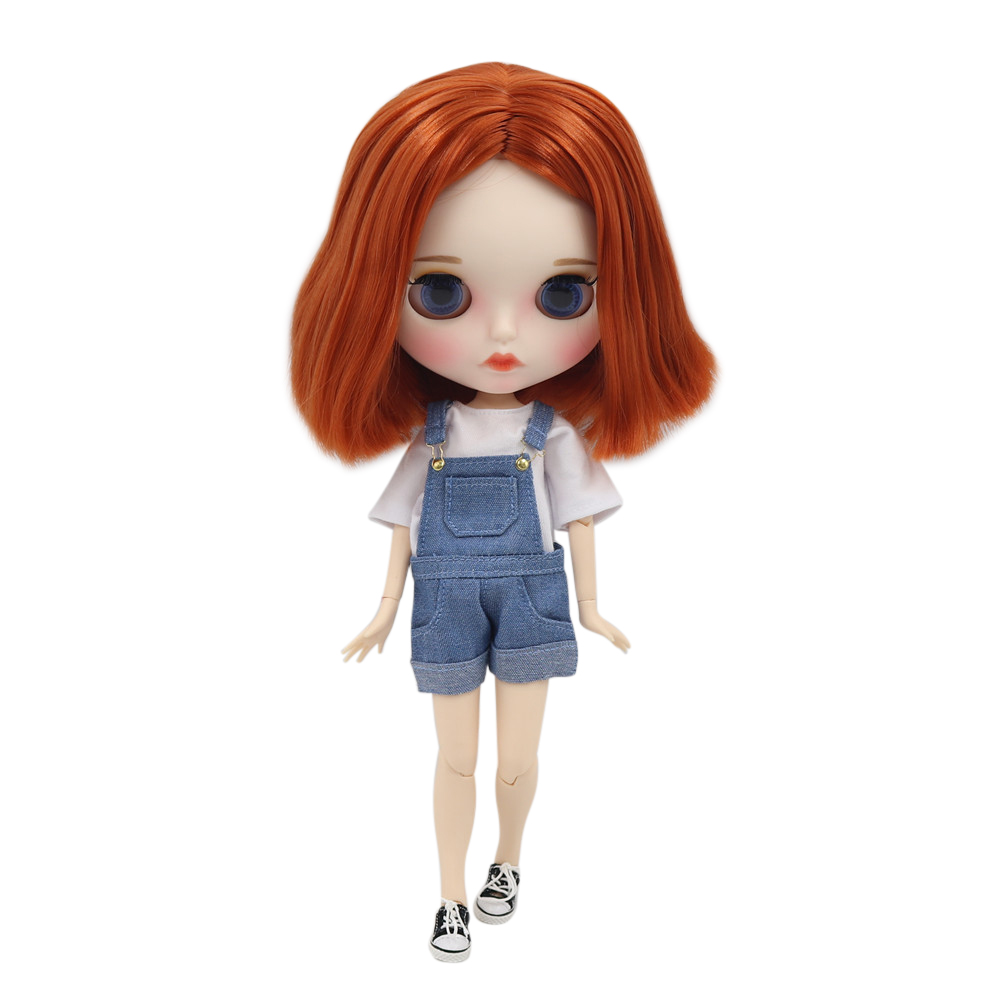 ICY Fortune Days factory blyth doll No BL232 nude doll with white skin orange hair and