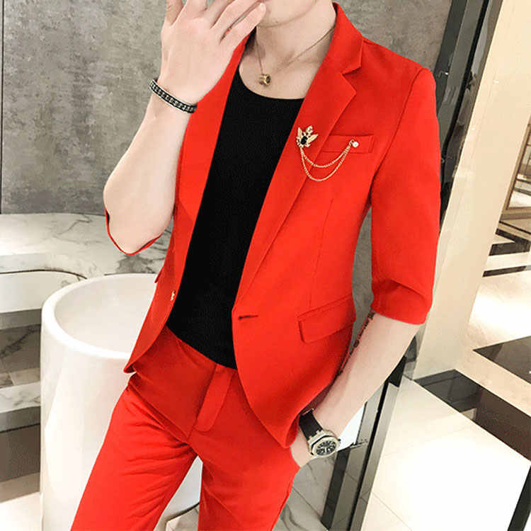 New Men's fashion Slim suits men's business casual clothing groomsman suit Blazers jacket  vest sets
