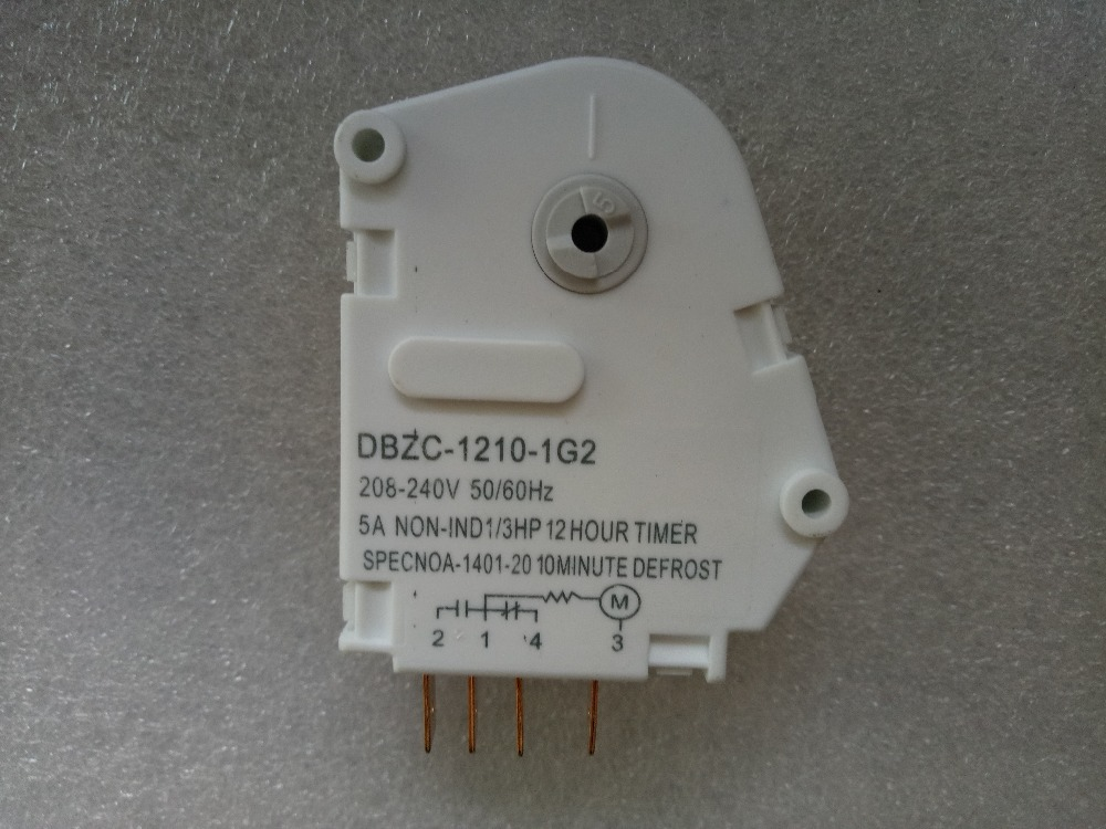 220V 12H10min Factory Direct Defrost Timer 2-3-4-1 Four-pin On The Door Refrigerator Accessories Mechanical Defroster defrost timer tmdex09um1