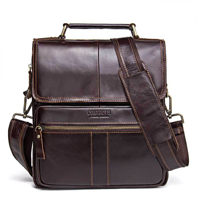 Men Genuine Leather Shoulder Bags Cross Body  New Leather Series Messenger Bag Vintage Satchel Square Solid color BagsMen Genuine Leather Shoulder Bags Cross Body  New Leather Series Messenger Bag Vintage Satchel Square Solid color Bags