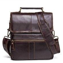 Men Genuine Leather Shoulder Bags Cross Body  New Leather Series Messenger Bag Vintage Satchel Square Solid color Bags цены