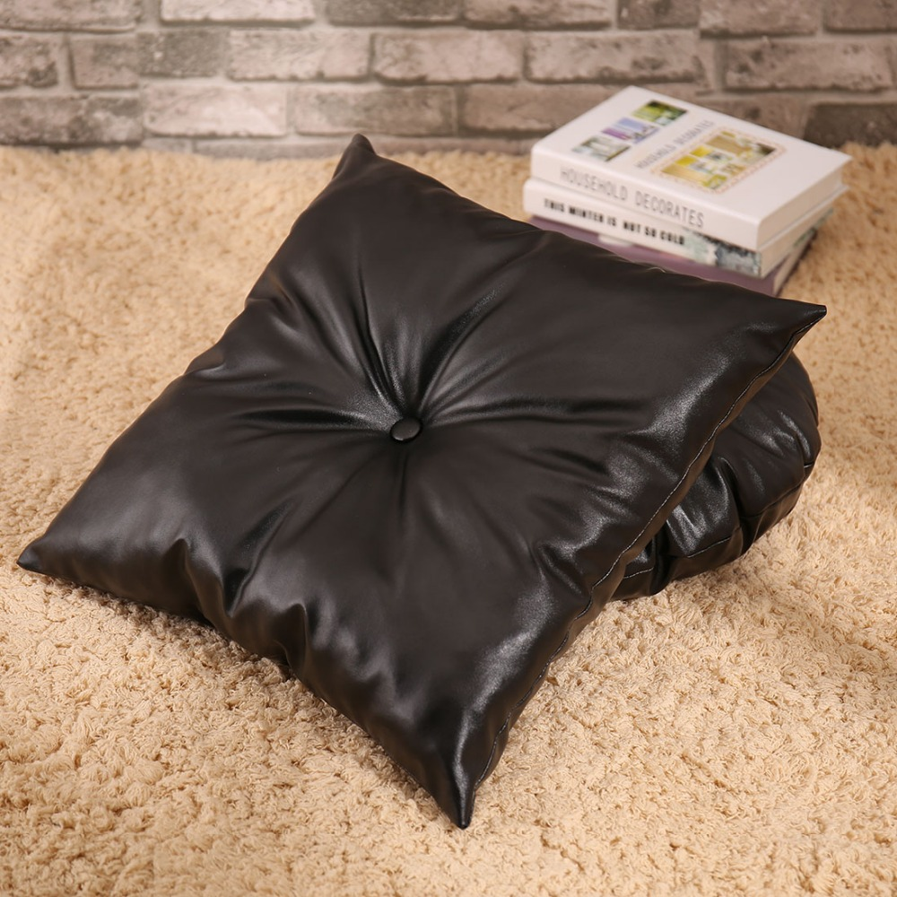 SewCrane PU Leather Seating Functional Cushion Square Floor Cushion ...