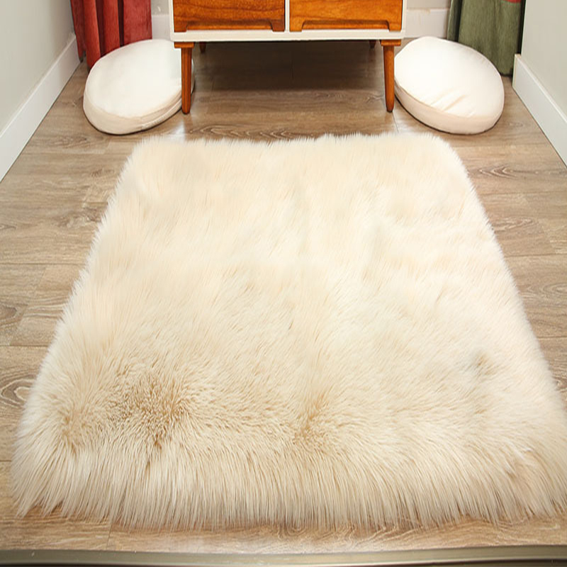Artificial Skin Long Faux Fur Wool Fluffy Carpets For Living Room Plush Chair Seat Cover Area Rug Bedroom Carpet Mat Home Decor