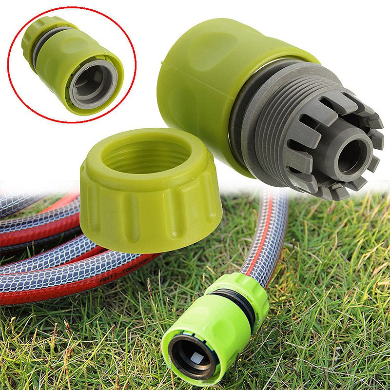 Green 1 2 Quick Connector Fits Female Water Tube Hose Pipe Tap Adaptor Garden Lawn