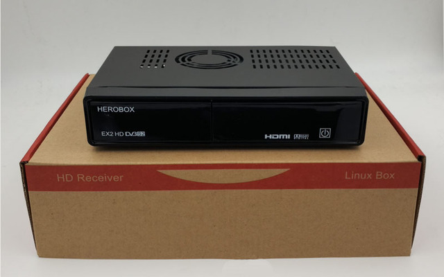DHL shipping HEROBOX EX2 HD-S2 BCM7362 751MHZ Dual-core with Tuner DVB-S2/S support Linux HD tv Receiver Satellite Receiver
