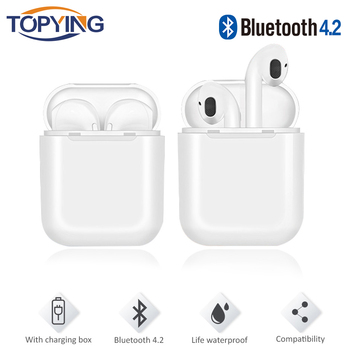 TOPYING Bluetooth Earphone Sports Wireless Headphones with Charging Box Stereo Bass for Iphone X Samsung S9 Plus Xiaomi Huawei