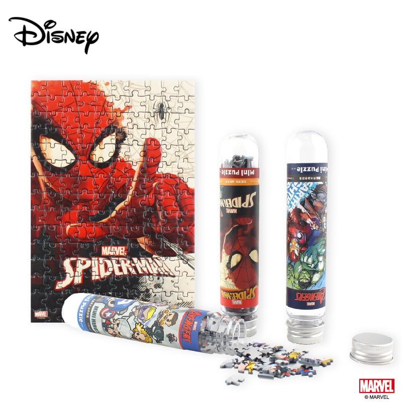 Disney 150 Piece Mini Puzzle Avengers Trendy Fashion Tube Puzzle Mini Flat Puzzle
