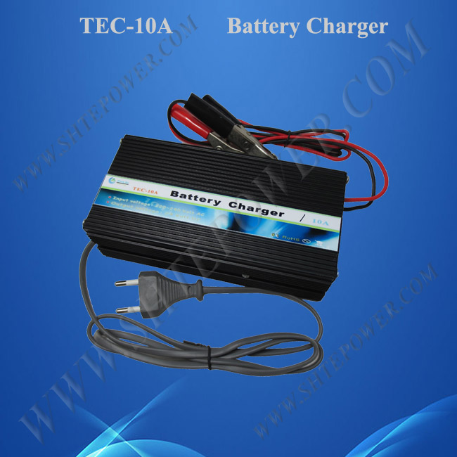 Automatic 3 stage Battery Charger 12V 10A , with full protection, ON/OFF switch