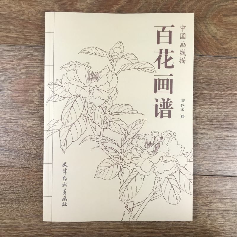Chinese Line Drawing Hundred Flower Painting Book  / Traditional Chinese Gong Bi Bai Miao Painting Art Textbook