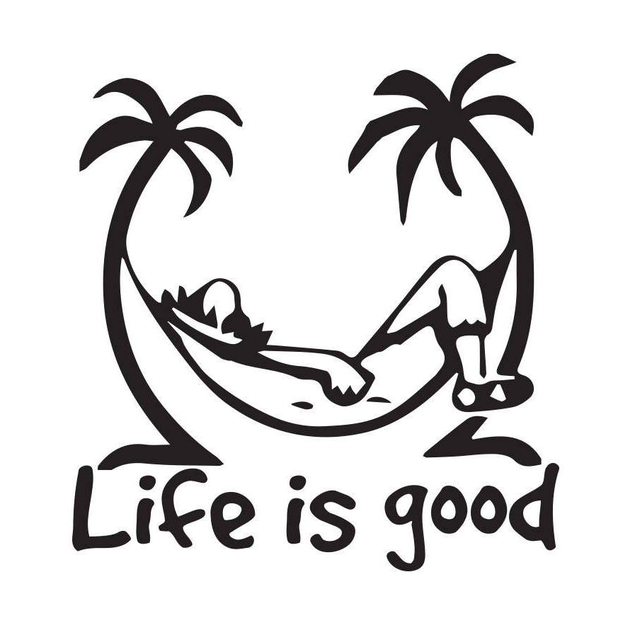 US $0 89 50% OFF|Life is Good Text Vinyl Car Sticker Decal Art Car Quotes  Stickers Window Decor Rear windshield Funny Design TA044-in Car Stickers