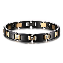 Black Bio Energy Ceramic Bracelet Bangle Lovers Magnetic Germanium Health Chain Charms Women Jewelry